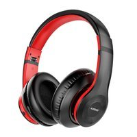 Ausdom wireless over-ear headphones Bluetooth 5.0 ANC (active noise cancellation) black-red (ANC10)