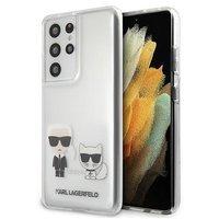 Karl Lagerfeld KLHCS21LCKTR S21 Ultra G998 hardcase Transparent Karl & Choupette