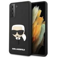 Karl Lagerfeld KLHCS21MKH3DBK S21 + G996 black / black hardcase 3D Rubber Karl`s Head
