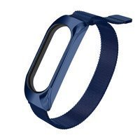 Replacment metal band bracelet strap for Xiaomi Mi 6 / Mi Band 5 / Mi Band  4 / Mi Band 3 blue