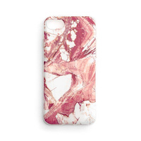 Wozinsky Marble TPU case cover for Samsung Galaxy S21 FE pink