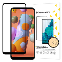 Wozinsky Tempered Glass Full Glue Super Tough Screen Protector Full Coveraged with Frame Case Friendly for Samsung Galaxy A11 / M11 black