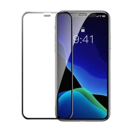 Baseus 2x full-screen curved tempered glass with frame screen protector for iPhone 11 Pro / iPhone XS / iPhone X black (SGAPIPH58-WD01)