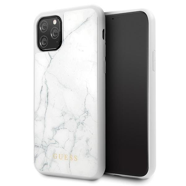Guess GUHCN58HYMAWH iPhone 11 Pro biały/white Marble