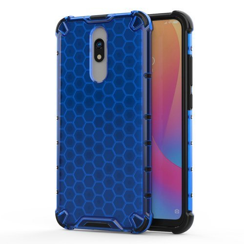 Honeycomb Case armor cover with TPU Bumper for Xiaomi Redmi 8A / Xiaomi Redmi 8 blue
