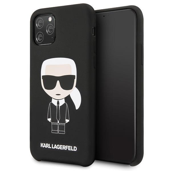 Karl Lagerfeld KLHCN58SLFKBK iPhone 11 Pro hardcase czarny/black Silicone Iconic