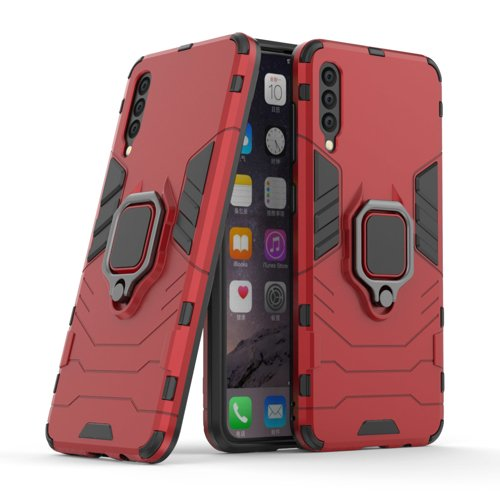 Ring Armor Case Kickstand Tough Rugged Cover for Samsung Galaxy A50s / Galaxy A50 / Galaxy A30s red