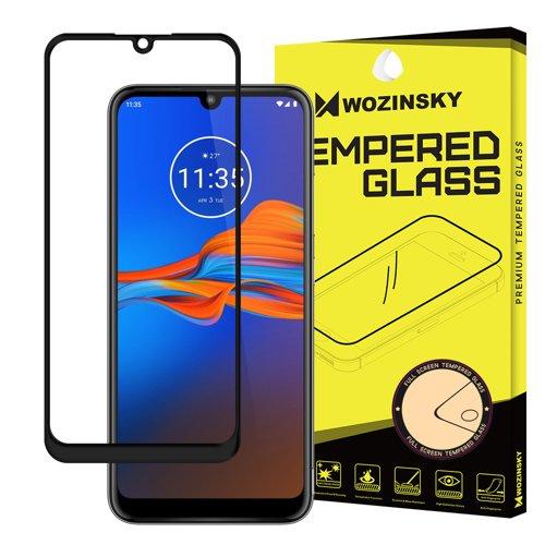 Wozinsky Super Tough Full Glue Trempé Verre Plein Écran Avec Frame Case Friendly Motorola Moto E6 Plus Transparent