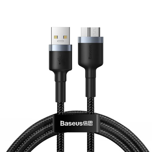 Baseus Cafule haltbares Nylonkabel USB 3.0 / micro USB SuperSpeed Kabel Ladekabel  2 A 1 m grau (CADKLF-D0G)