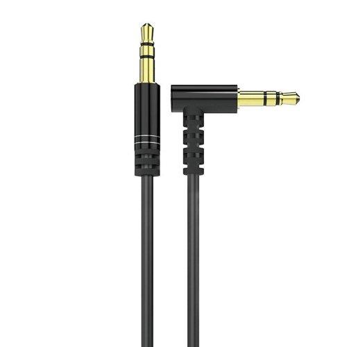 Dudao Winkelkabel AUX Miniklinke 3,5mm Kabel 1m schwarz (L11 schwarz)