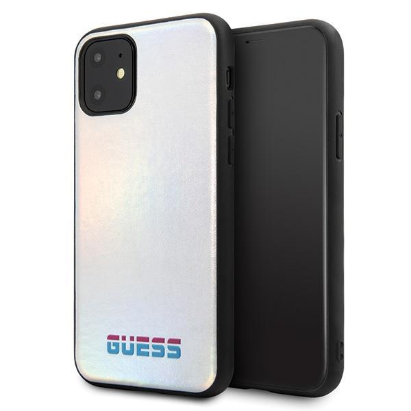 Guess GUHCN65BLD iPhone 11 Pro Max silber / silbernes Hartschalenetui schillernd