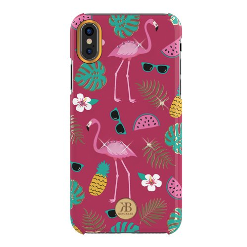 Kingxbar Blossom Hülle verziert mit original Swarovski Kristallen iPhone XS Max pink