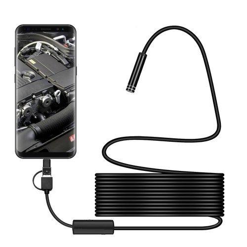 Wasserdichte Endoskopkamera 8mm / 5m Android USB / Micro USB / USB Typ C schwarz