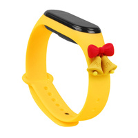 Strap Xmas opaska do Xiaomi Mi Band 6 / Mi Band 5 świąteczny silikonowy pasek bransoletka żółty (dzwonki)