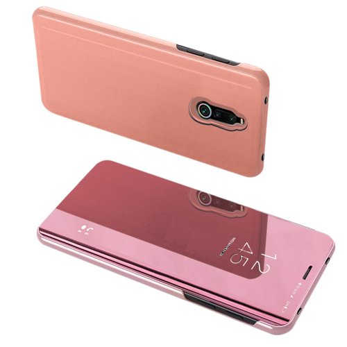Clear View Case futerał etui z klapką Xiaomi Redmi 8 różowy