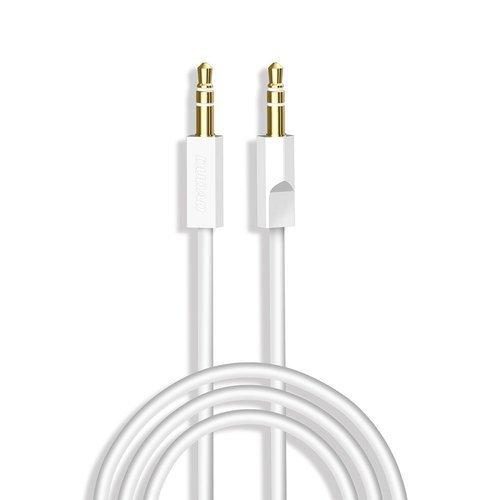Dudao kabel AUX mini jack 3.5mm 1m 3 polowy stereo biały (L12S white)