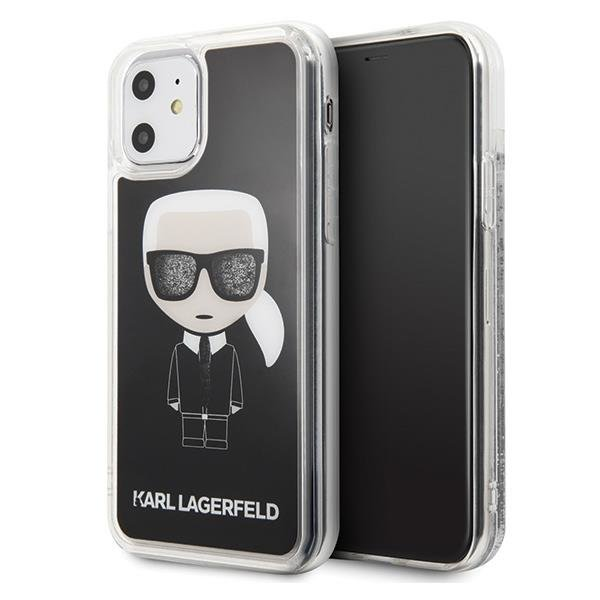 Karl Lagerfeld KLHCN61ICGBK iPhone 11 czarny/black Iconic Glitter